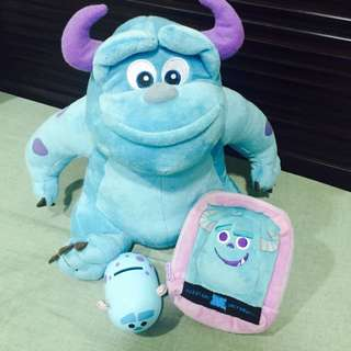 毛怪 娃娃玩偶存錢筒收納包