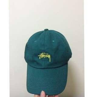 Stussy 老帽 綠 鴨舌帽