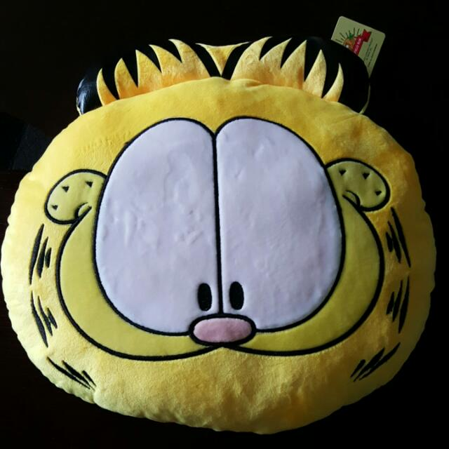 Brand New Authentic Garfield Head Cushion Pillow Cat By Paws Babies Kids On Carousell