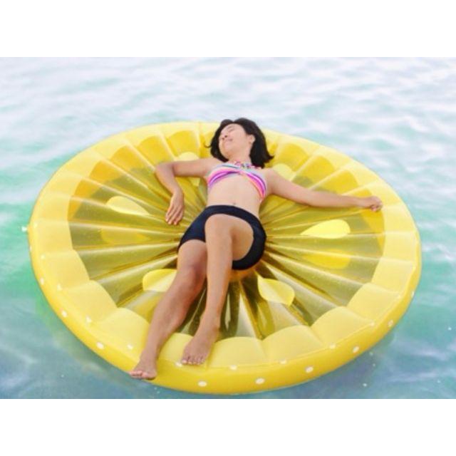☀Chi's shop~☀ 現+預 超大檸檬水果片BIG MOUTH漂浮墊 游泳圈造型泳圈 海邊沙灘 充氣浮板 接急單