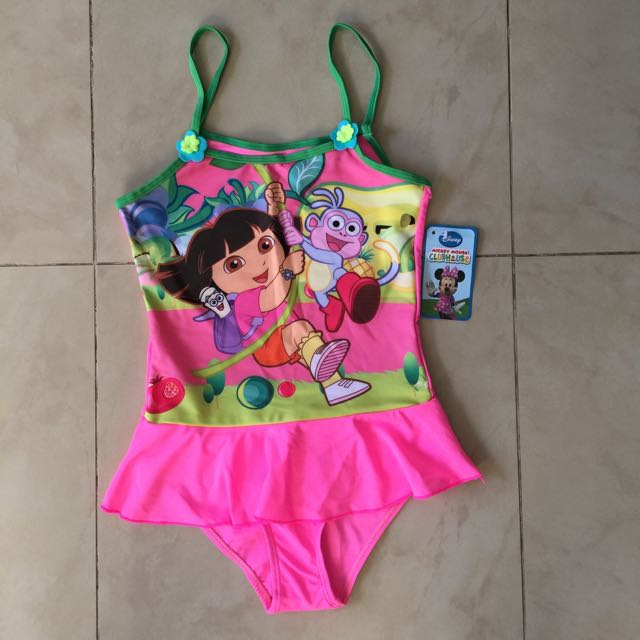 Reserved Dora Boots Kids Swimming Costume Babies Kids On Carousell