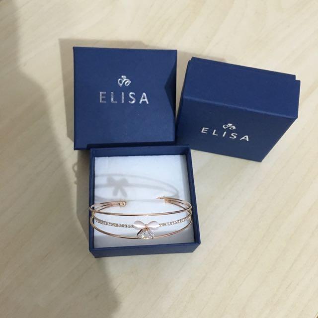 ELISA  氣質蝴蝶水晶手環