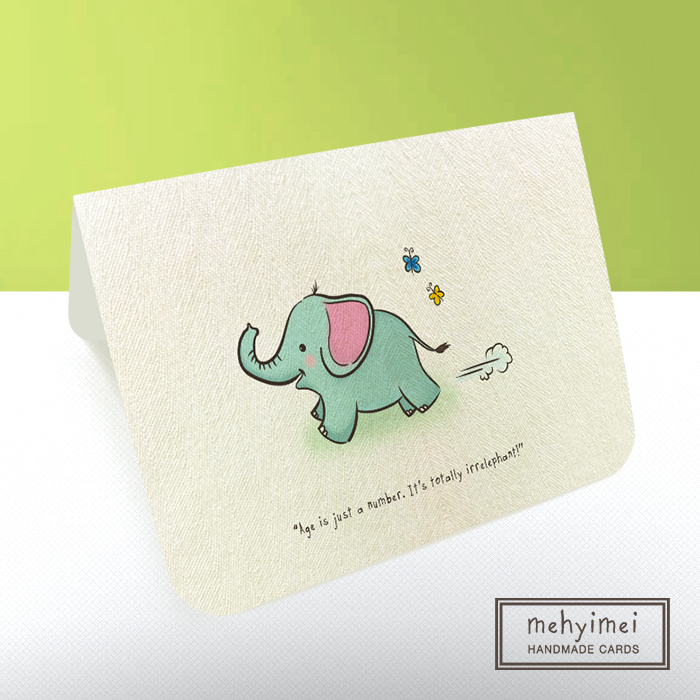 Handmade Birthday Card Elephant Design Craft On Carousell