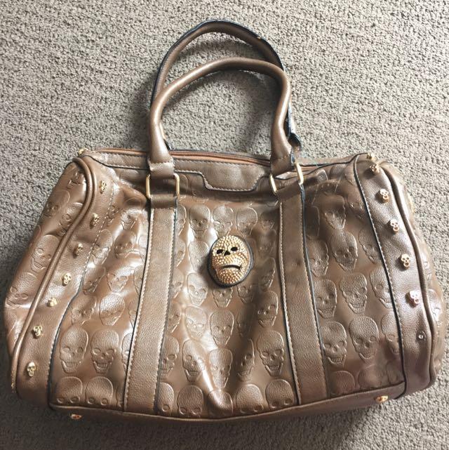 JGL Brown Gold Scale Bag