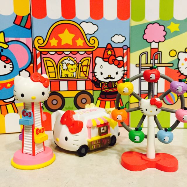 Kitty樂園組 餐車 自由落體 摩天輪