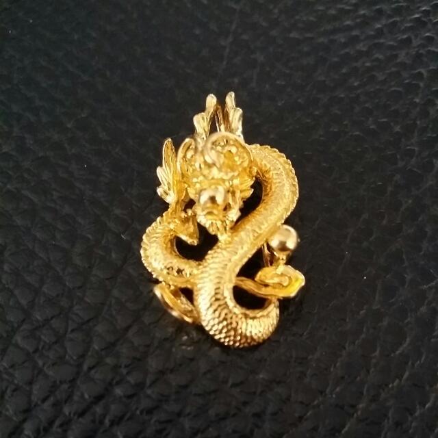New year sales91622k 666 grm gold dragon pendant dis con photo photo photo aloadofball Choice Image