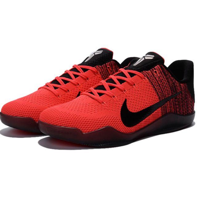 NIKE AIR ZOOM KOBE 11 ZK XI新款原子紅編織 科比11代籃球鞋 男鞋