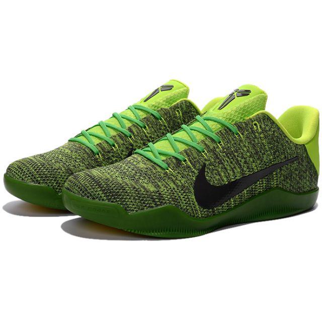 NIKE AIR ZOOM KOBE 11 ZK XI新款草綠編織 科比11代籃球鞋 男鞋