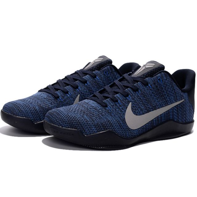 NIKE AIR ZOOM KOBE 11 ZK XI新款深藍銀編織 科比11代籃球鞋 男鞋