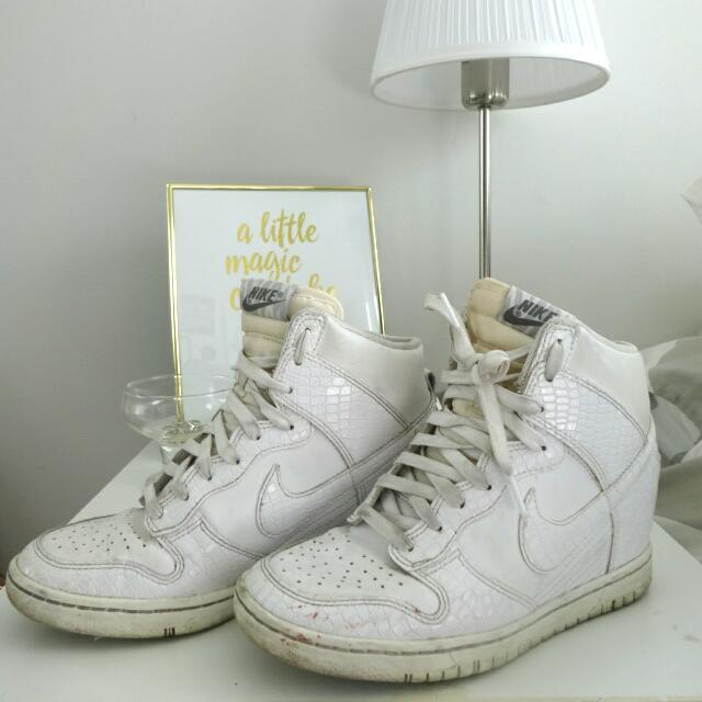 Nike High Dunks White Sz 6.5 / EU 37.5