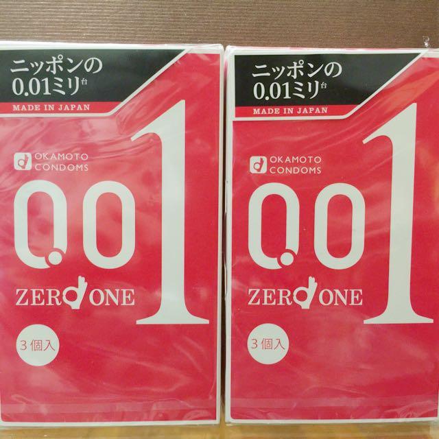 ❣OKAMOTO岡本0.01極限超薄日本原裝包裝 3片入001保險套