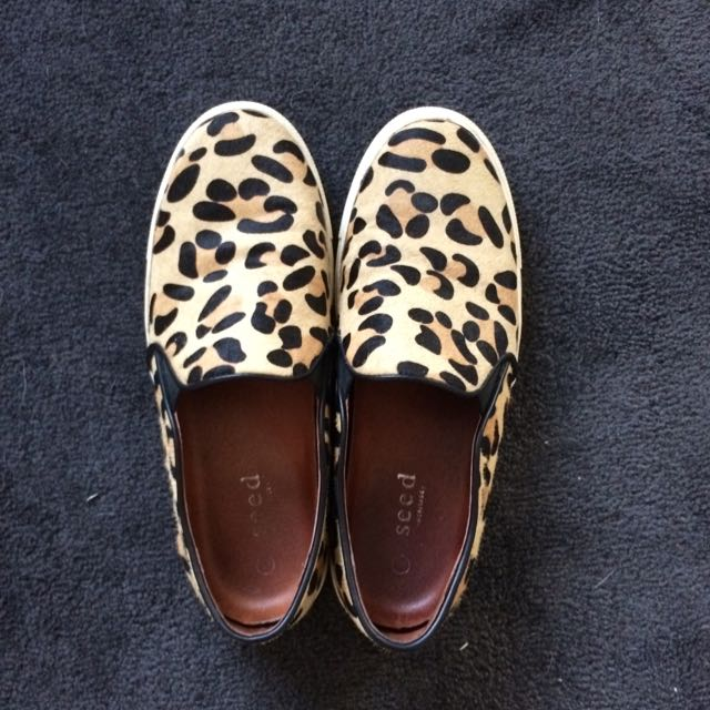 Seed Leopard Print Loafers