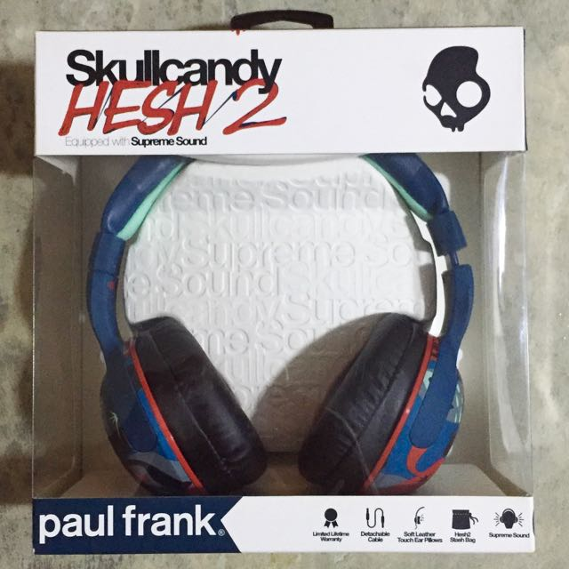 defensa Sofocar Encantador  Skullcandy Hesh 2 Limited Edition (Paul Frank) Headphones, Electronics on  Carousell
