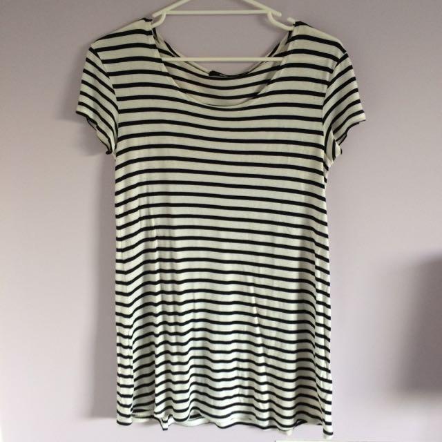 Sportsgirl Striped T-shirt Dress