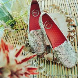 全新 韓版 高質感 精緻亮片樂福鞋 37