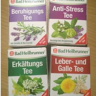 [代買] 德國Bad Heilbrunner感冒茶及各式藥草茶