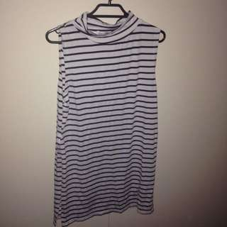 Paperscissors Marine And White Stripes Top