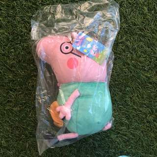 NEW- TY Daddy Pig (30cm) Peppa Pig