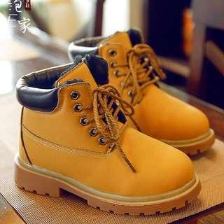 預購!    韓版兒童馬丁靴女童鞋男童鞋靴子寶寶小短靴雪地靴小黄靴