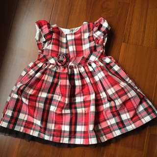 Carter's 卡特 紅色格子洋裝 四季皆可穿 Size 18m 近全新