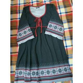 (含運)民族風洋裝