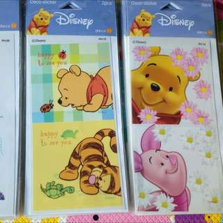 Pooh, Mickey, Minnie, classic Tiles Stickers