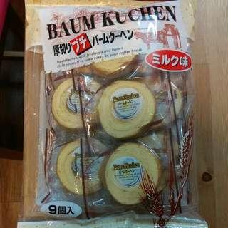日本厚切牛奶味年輪蛋糕-125元