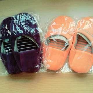 專櫃Yvonne 日系室內拖鞋 橘/紫