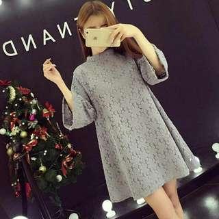 ♡全新♡新款韓版時尚勾花摟空七分袖氣質蕾絲短洋