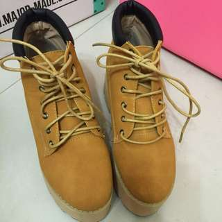 Mavis 日本連線靴 厚底綁帶靴 500含郵
