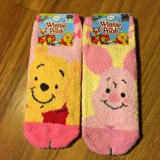 🇰🇷維尼珊瑚絨襪襪🇰🇷