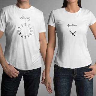 Sharing Good Times Matching Couple Shirts for Valentines Day Gift
