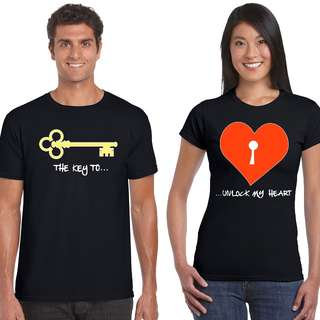 Key To My Heart Matching Couple Shirts for Valentines Day Gift