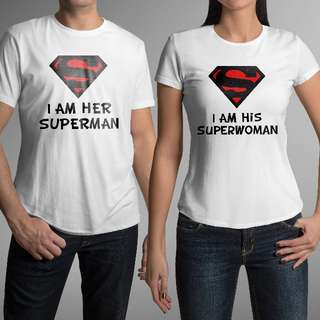 Super Hero Matching Couple Shirts for Valentines Day Gift