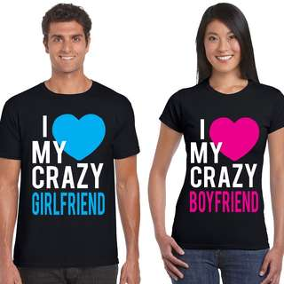 Crazy In Love Matching Couple Shirts for Valentines Day Gift