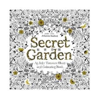 繪畫本 遠流 秘密花園 外封膜已拆