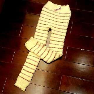 日本買回來 超暖熊寶寶毛巾料 睡褲