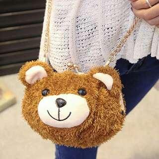 全新現貨小熊包單肩包側背包斜肩包