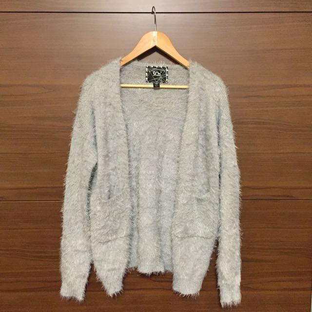 50%毛絨絨暖呼呼長版外套