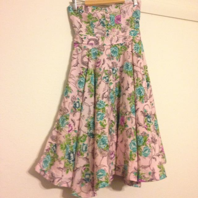 50s Inspired Dangerfield Dress. Light Pink Size 6.