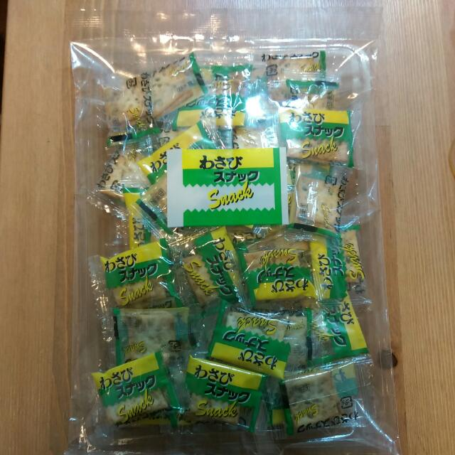 前田芥末味餅乾90g-90元