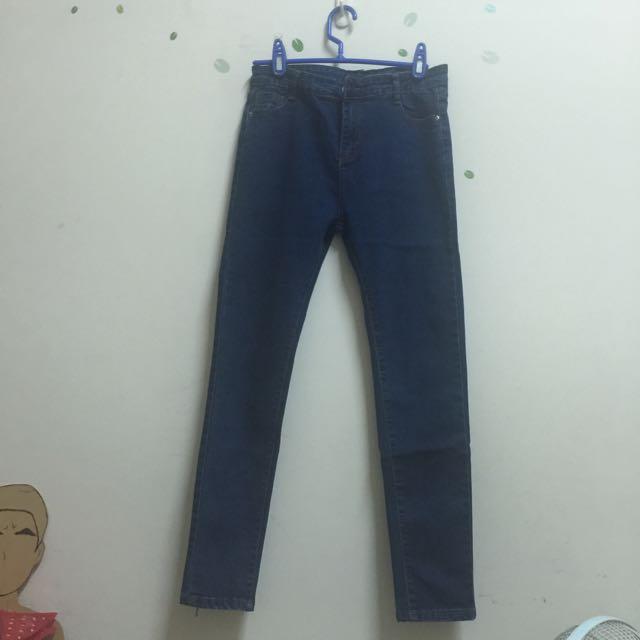 全新深藍牛仔褲