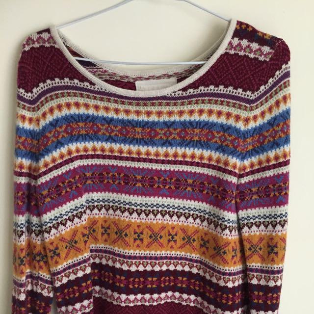 H&M民俗毛衣