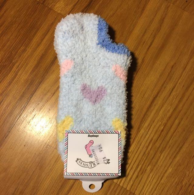 🆕愛心短款珊瑚絨襪襪🆕