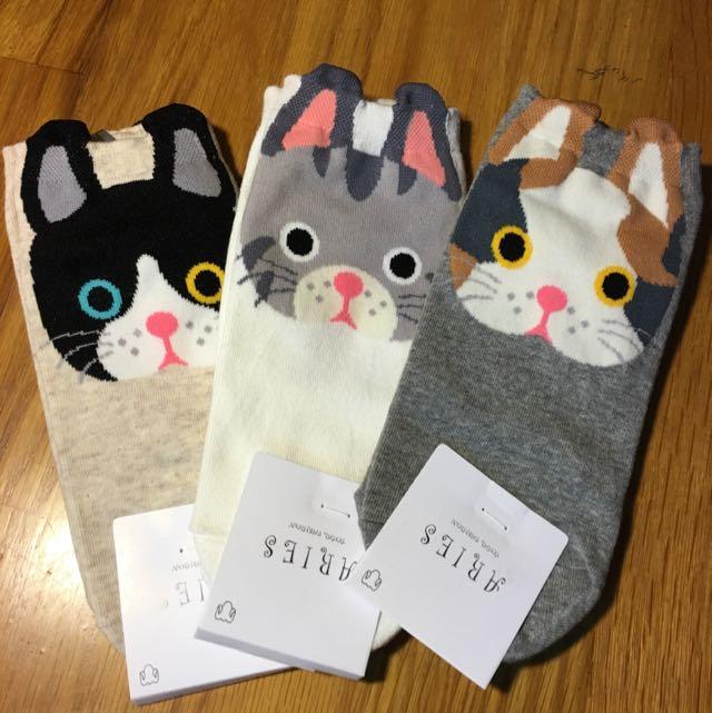 🇰🇷貓咪短襪🇰🇷