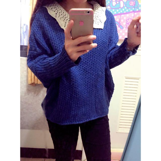🎀藍色蝴蝶袖上衣