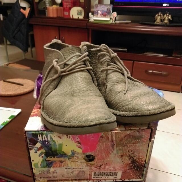 麥肯納全牛皮短靴