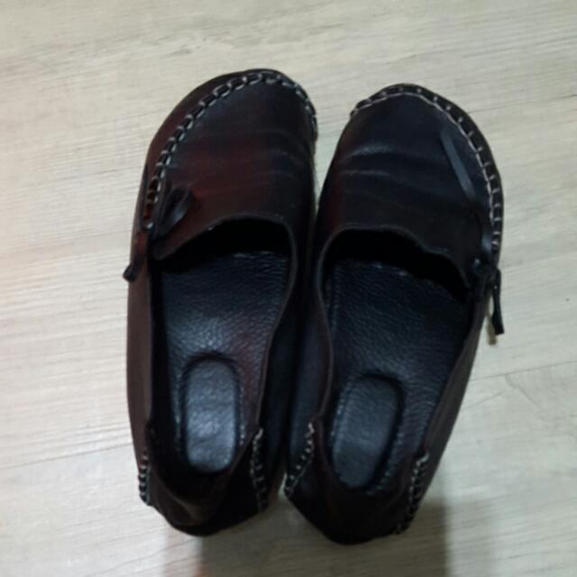 黑色包頭鞋 材質極軟 台灣製(可換物