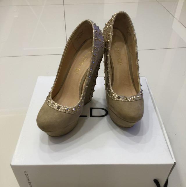 ALDO 棕色楔型高根鞋