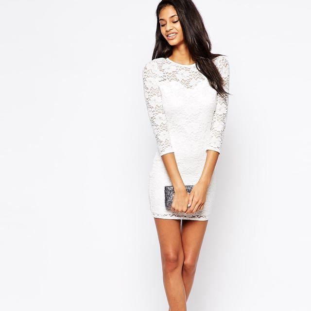 Asos Club L White Lace Dress